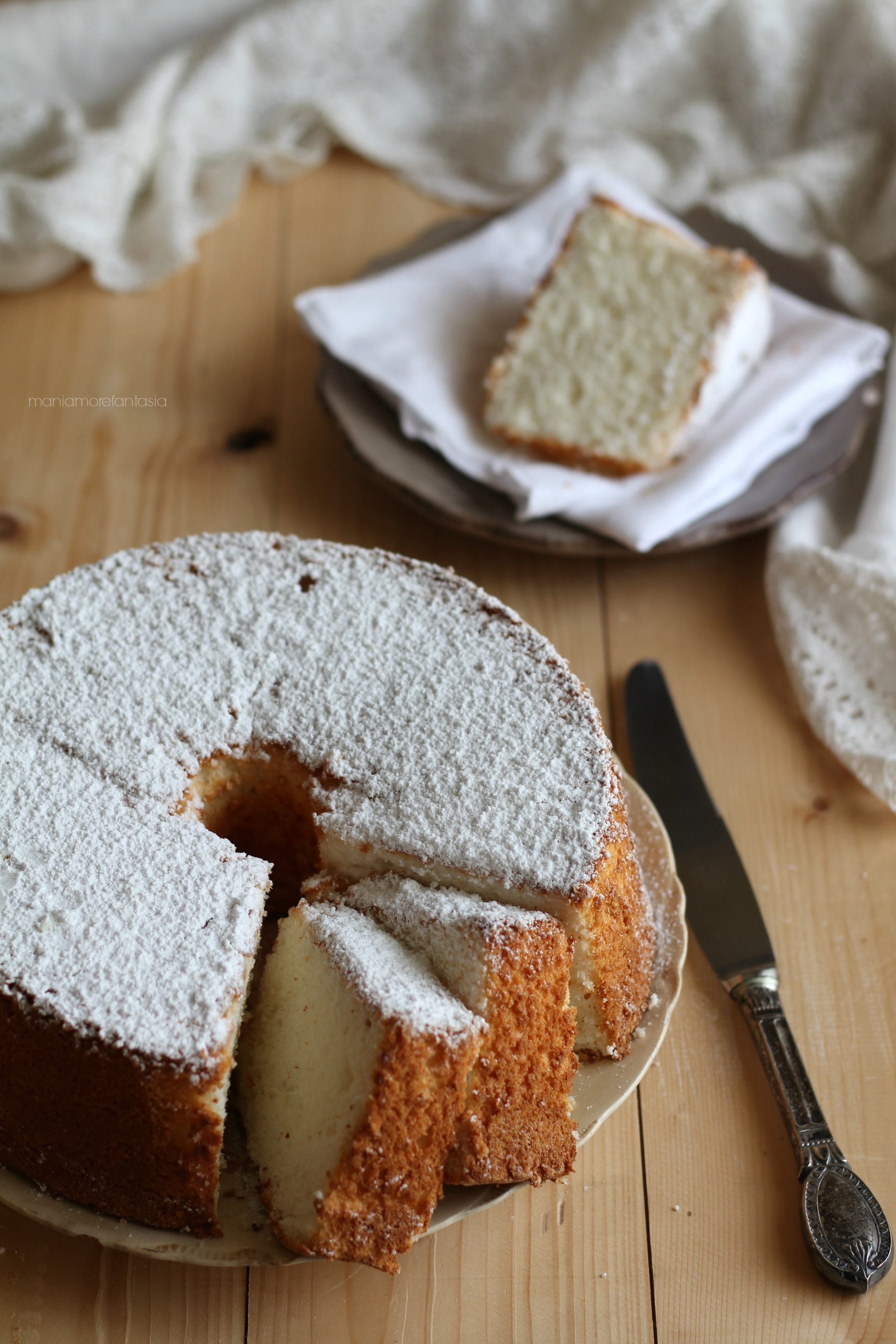 angel cake ricetta ciambellone solo albumi