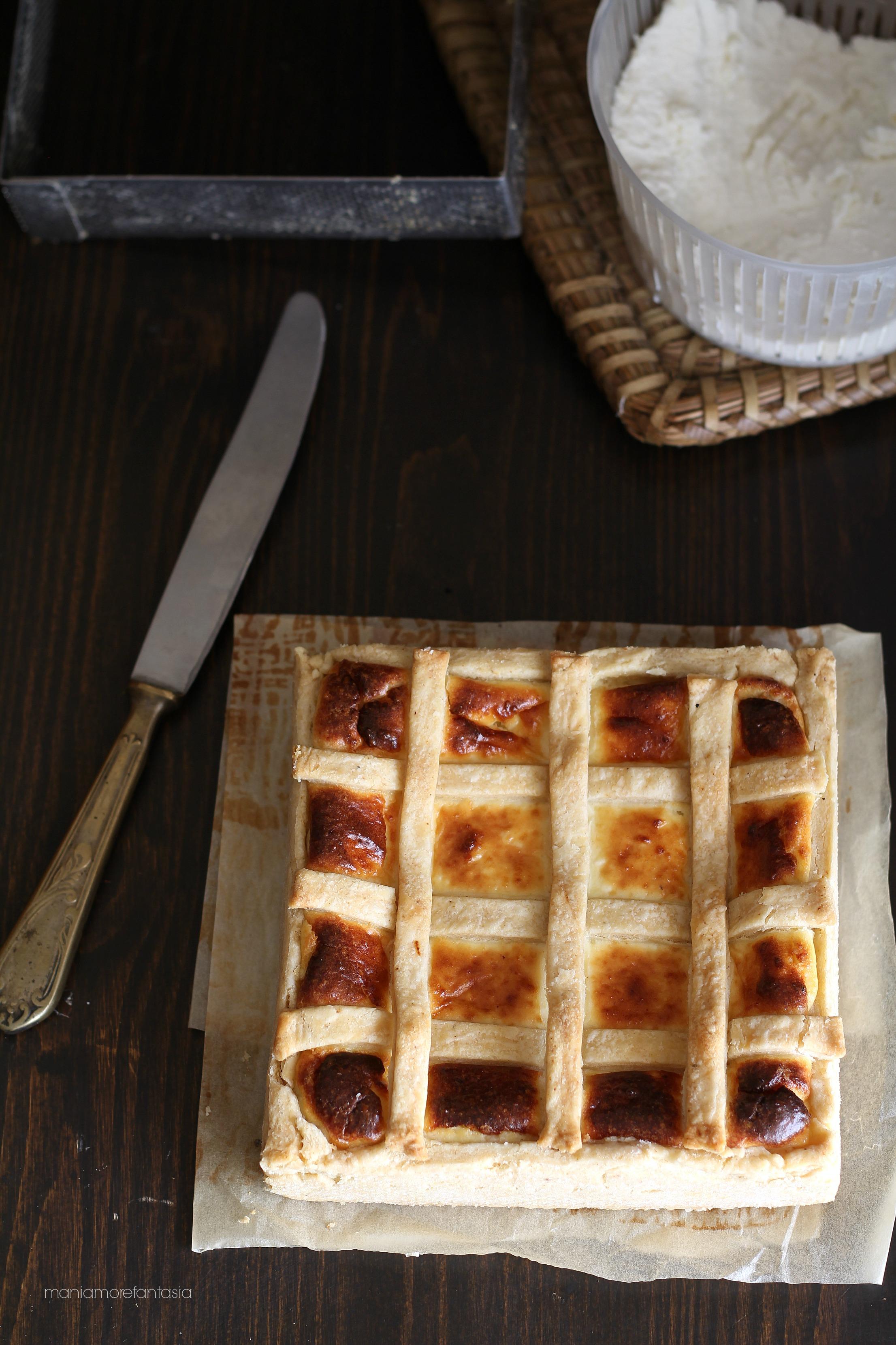 crostata di brisée alla ricotta e formaggi