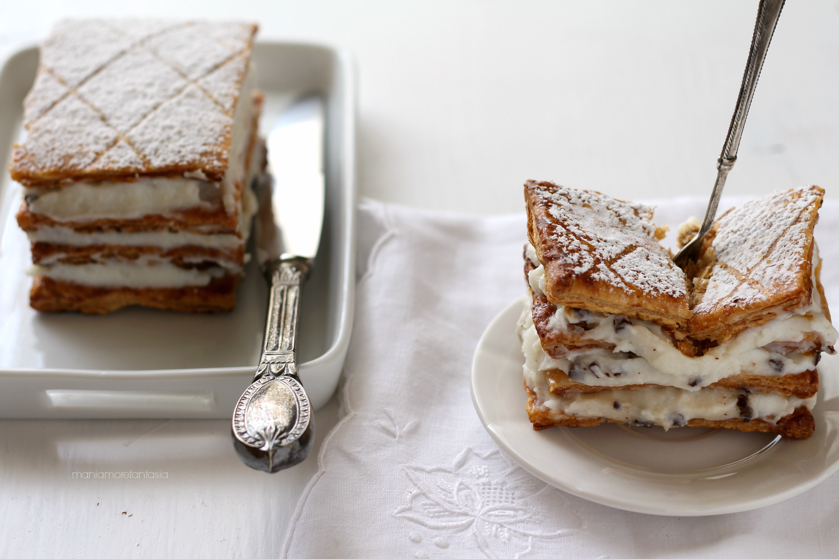 torta millefoglie ricotta