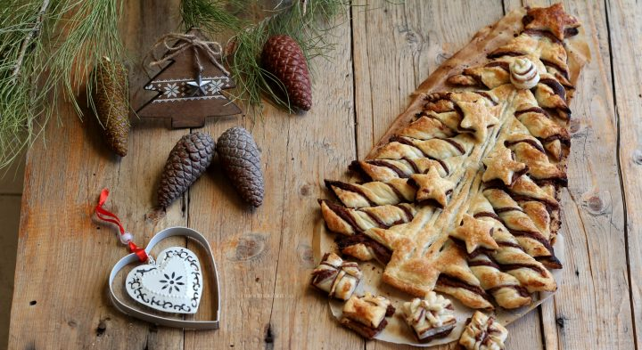 albero di pasta sfoglia e nutella