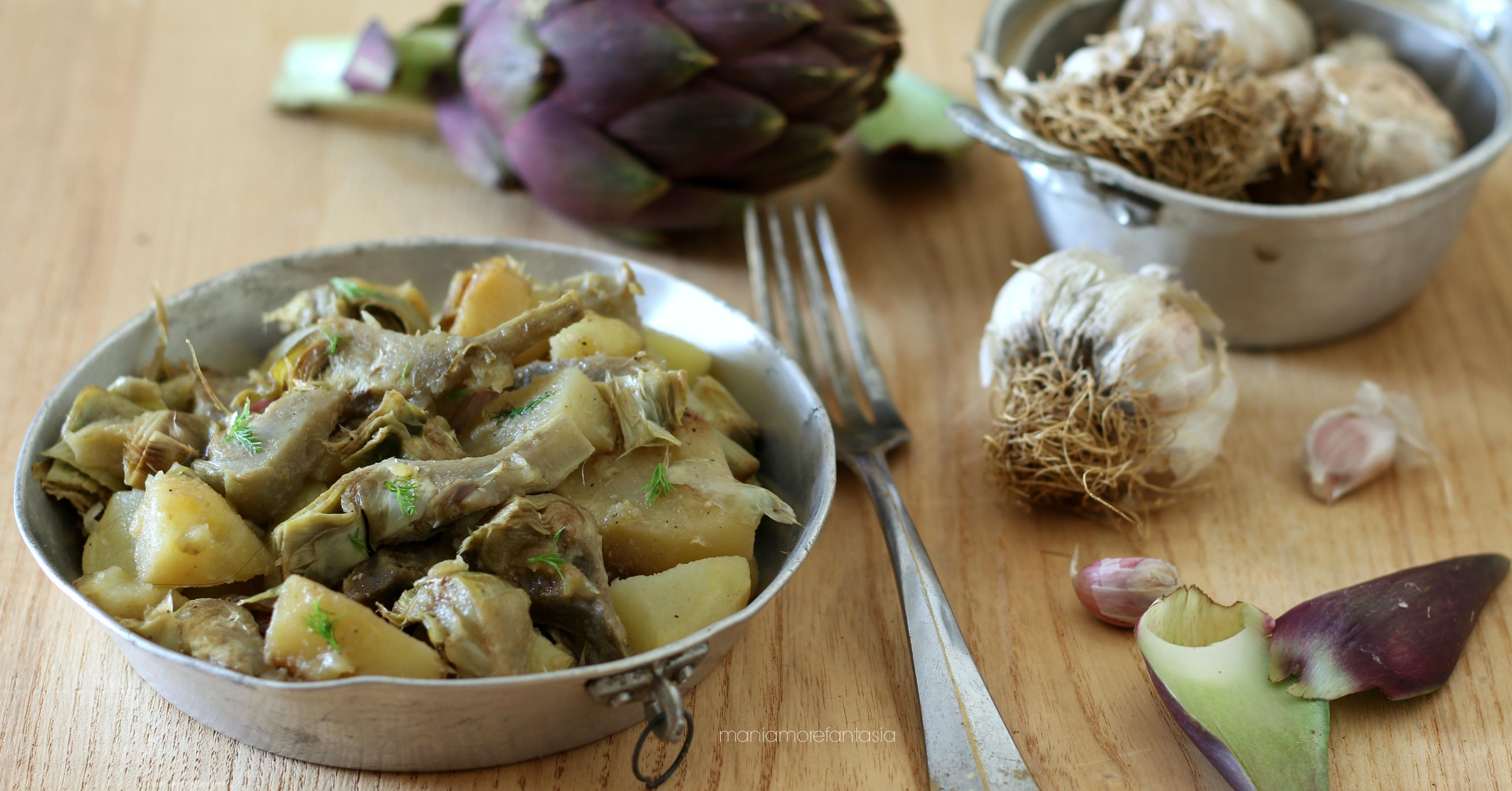 contorno di patate e carcciofi