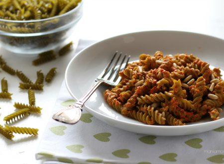 Pasta DI piselli al pesto di pomodori secchi