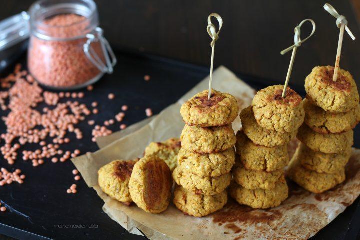 polpette di lenticchie rosse al forno