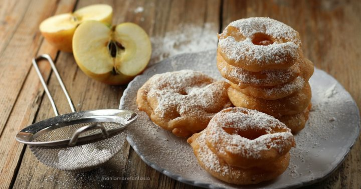 frittelle di mele senza uova e latte soffici