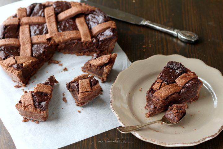 crostata al cioccolato cremosa