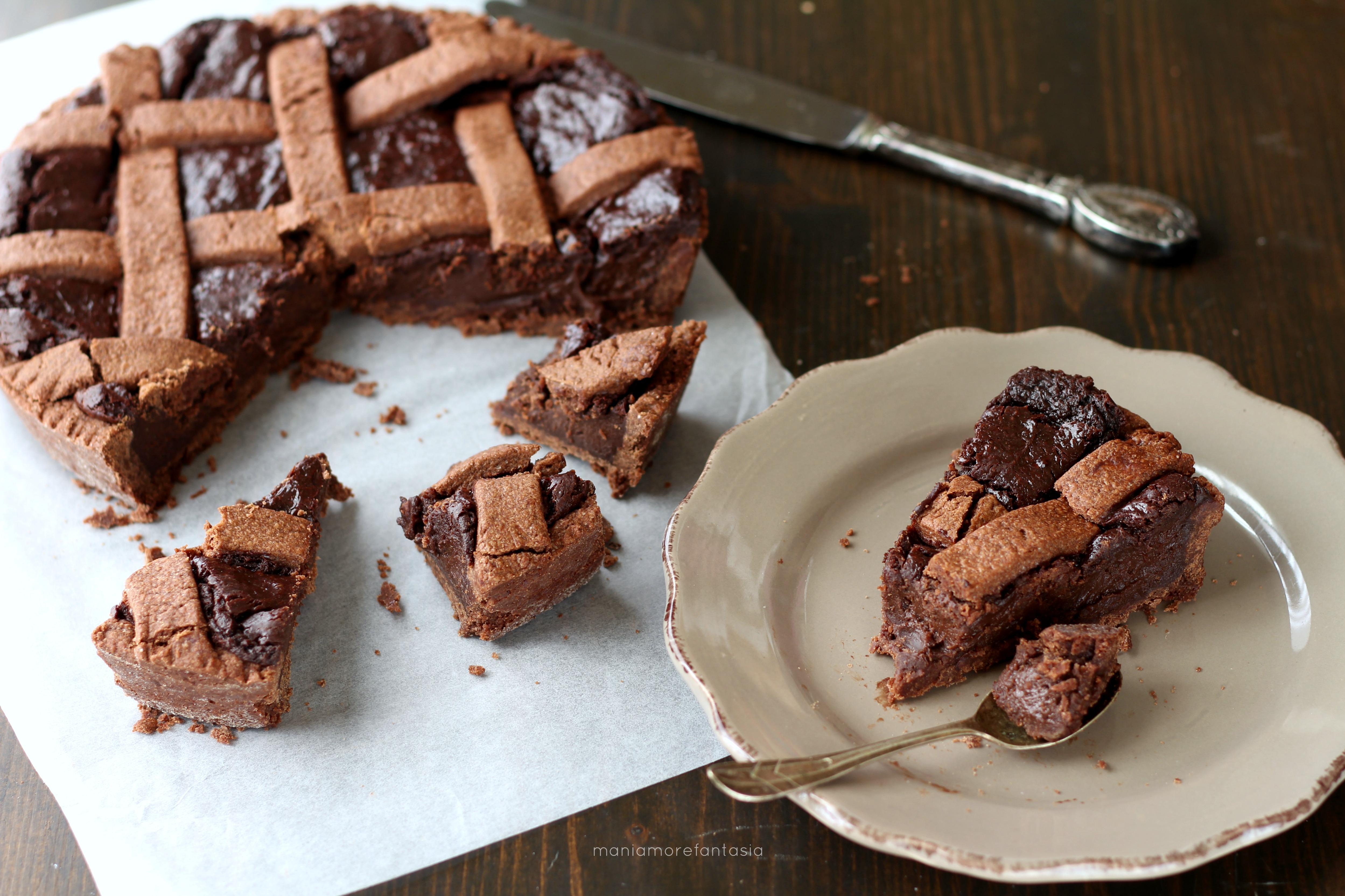 crostata tutta al cioccolato cremosa