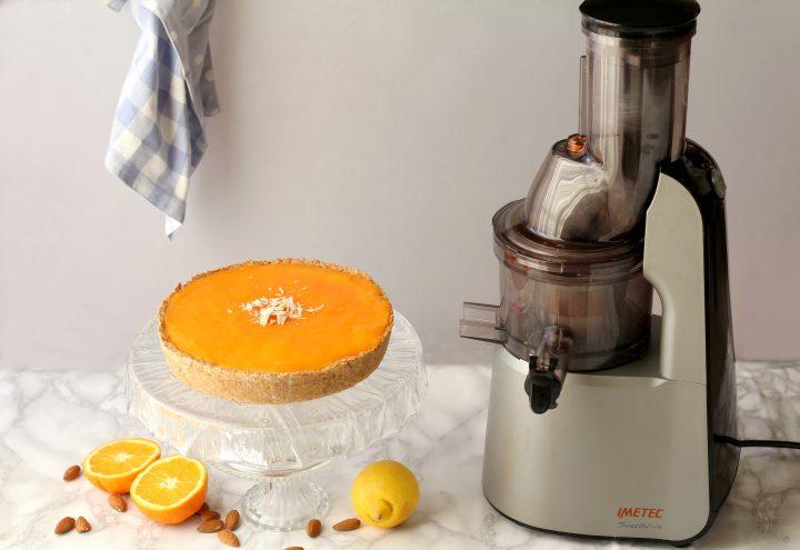 finta cheesecake al latte di mandorle e gelo ace