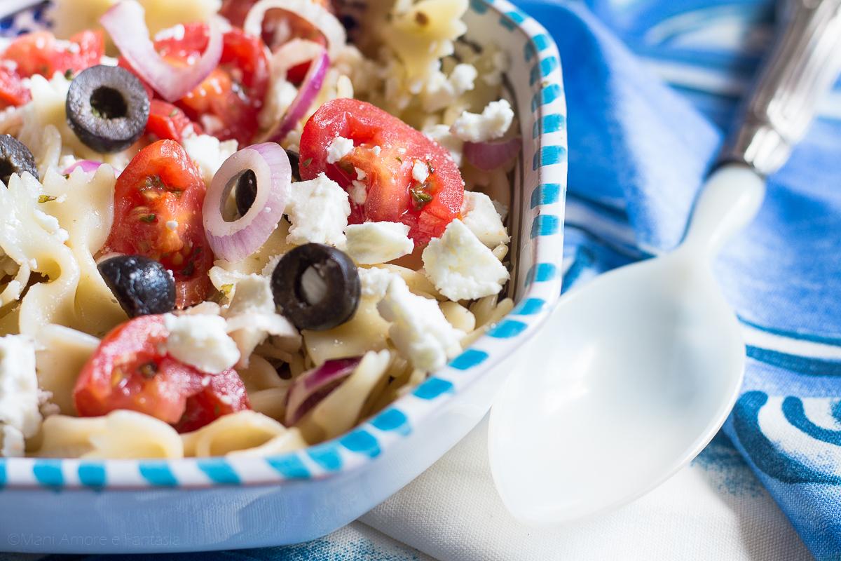 insalata di pasta alla greca