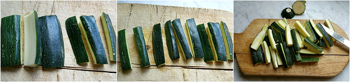 caponata con le zucchine