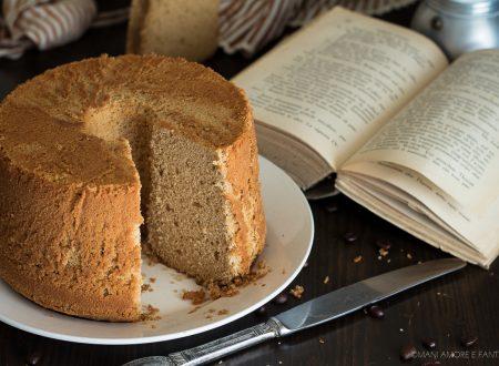 CHIFFON CAKE AL CAFFE' senza burro e senza latte SOFFICISSIMA!