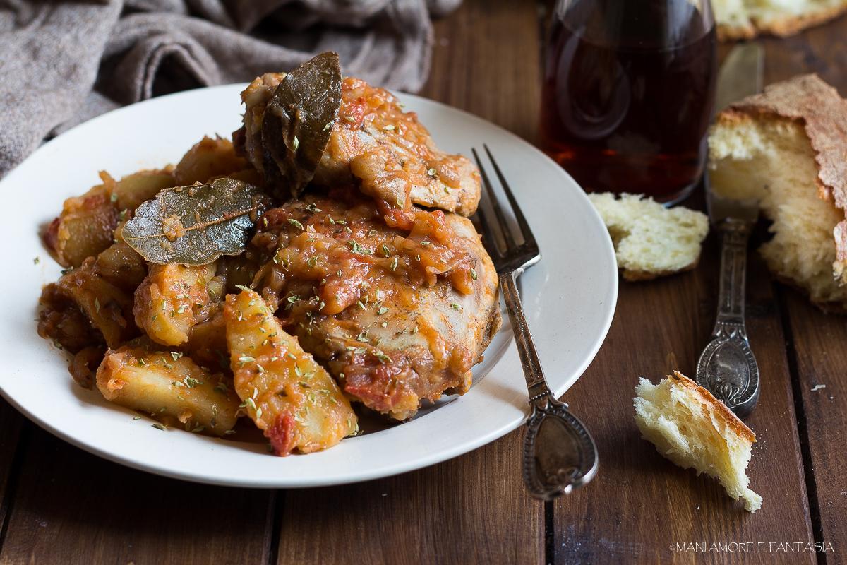 pollo e patate alla pizzaiola