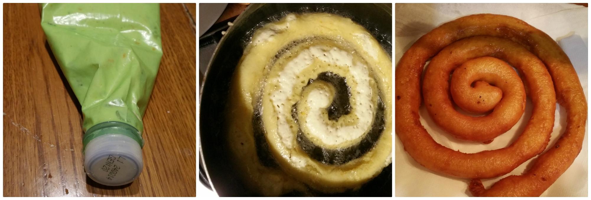frittelle sarde a spirale