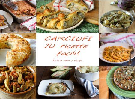 CARCIOFI: 10 RICETTE FACILI!