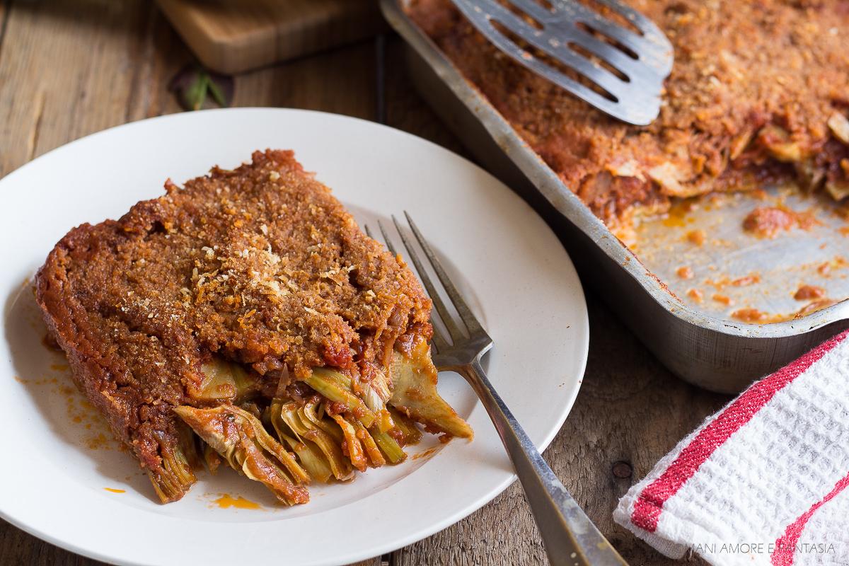 carciofi a sfincione ricetta siciliana