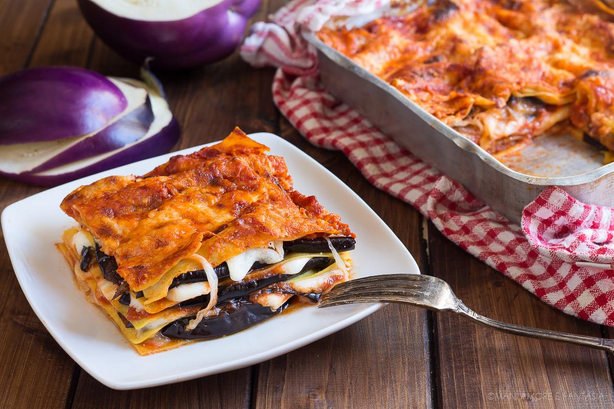 lasagne melanzane e mozzarella