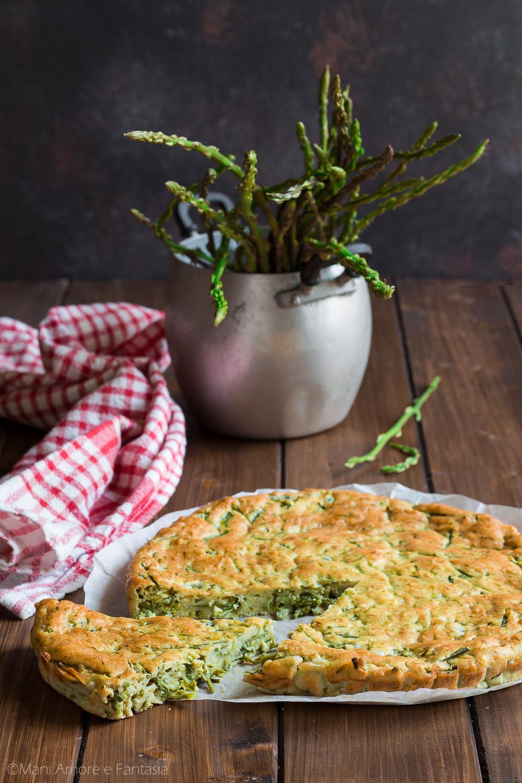 torta di asparagi selvatici