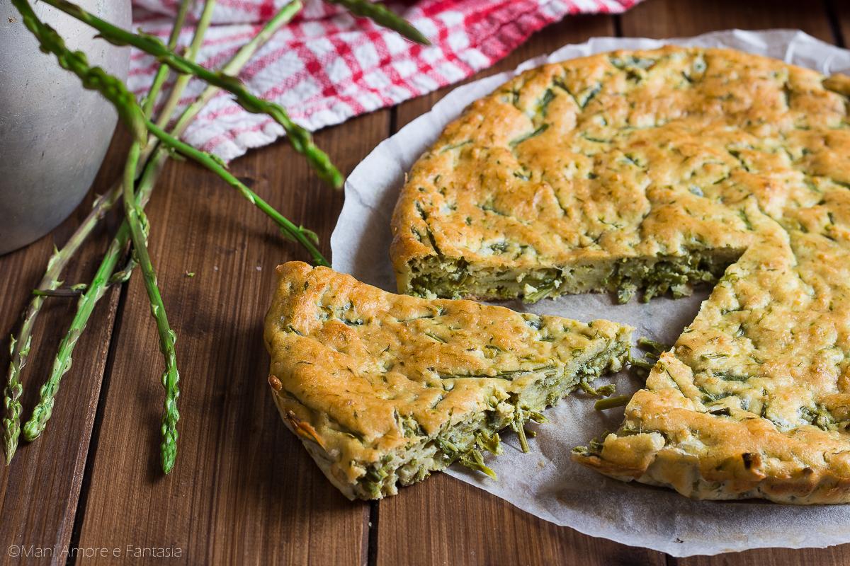 torta di asparagi selvatici al forno