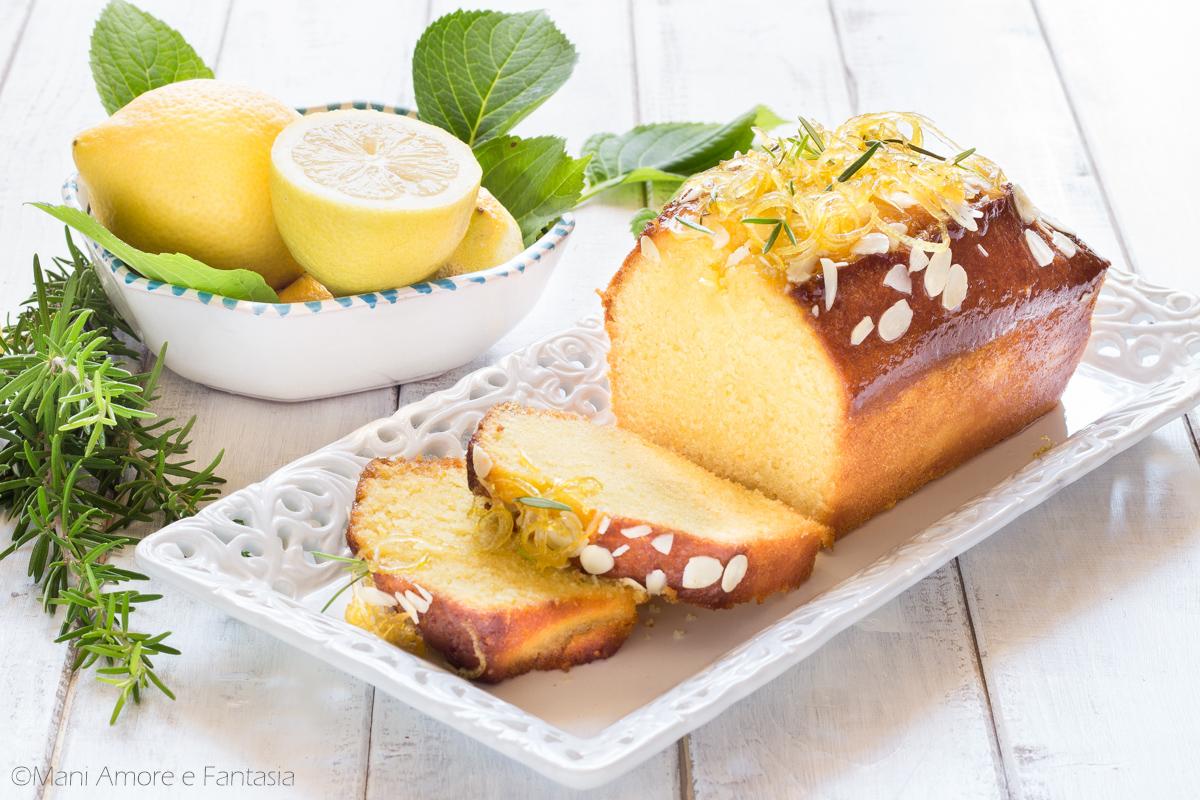 plumcake limone e rosmarino