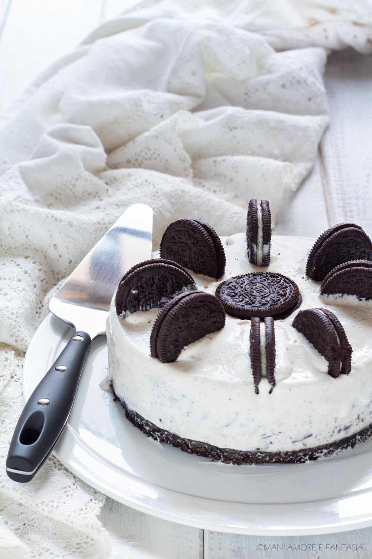torta gelato con biscotti
