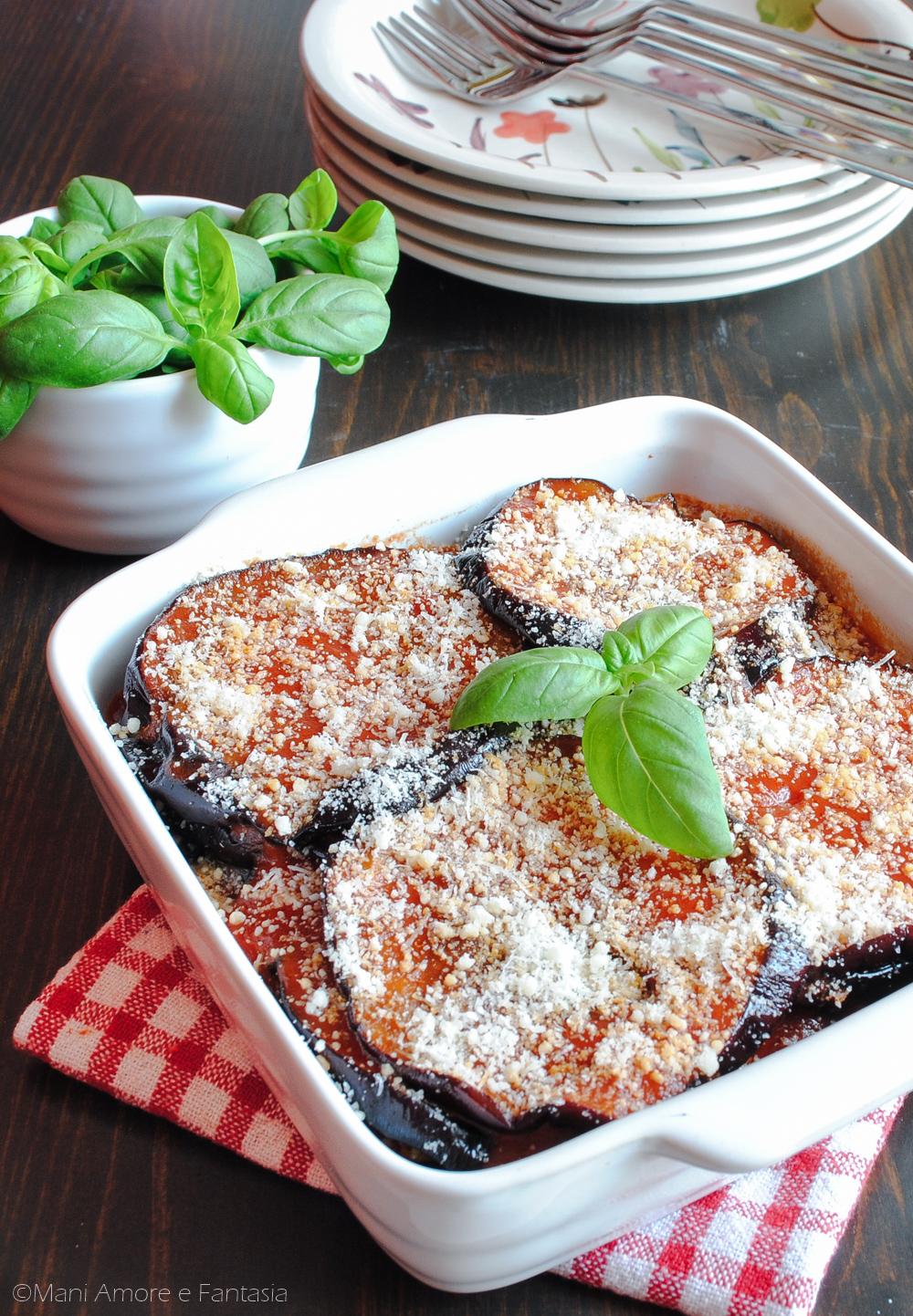 Parmigiana Siciliana Di Melanzane Secondo Piatto Rustico Senza Forno