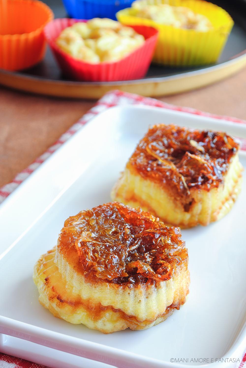 frittatine al forno con cipolle caramellate