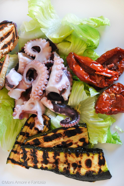 insalata di polpo e verdure miste