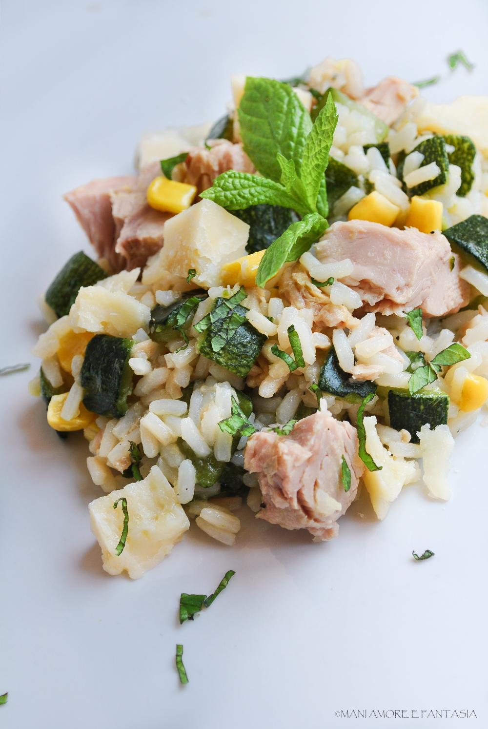 riso freddo tonno e zucchine