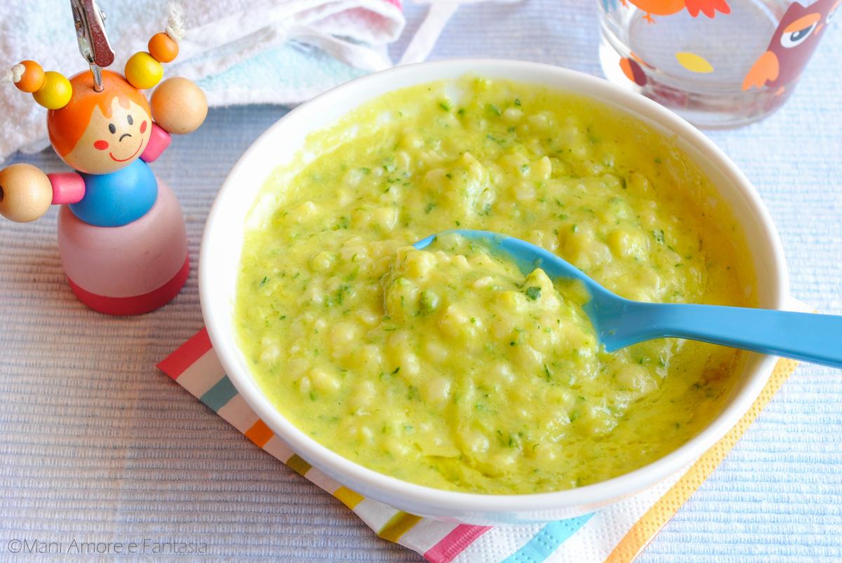 minestra con zucchine e uova