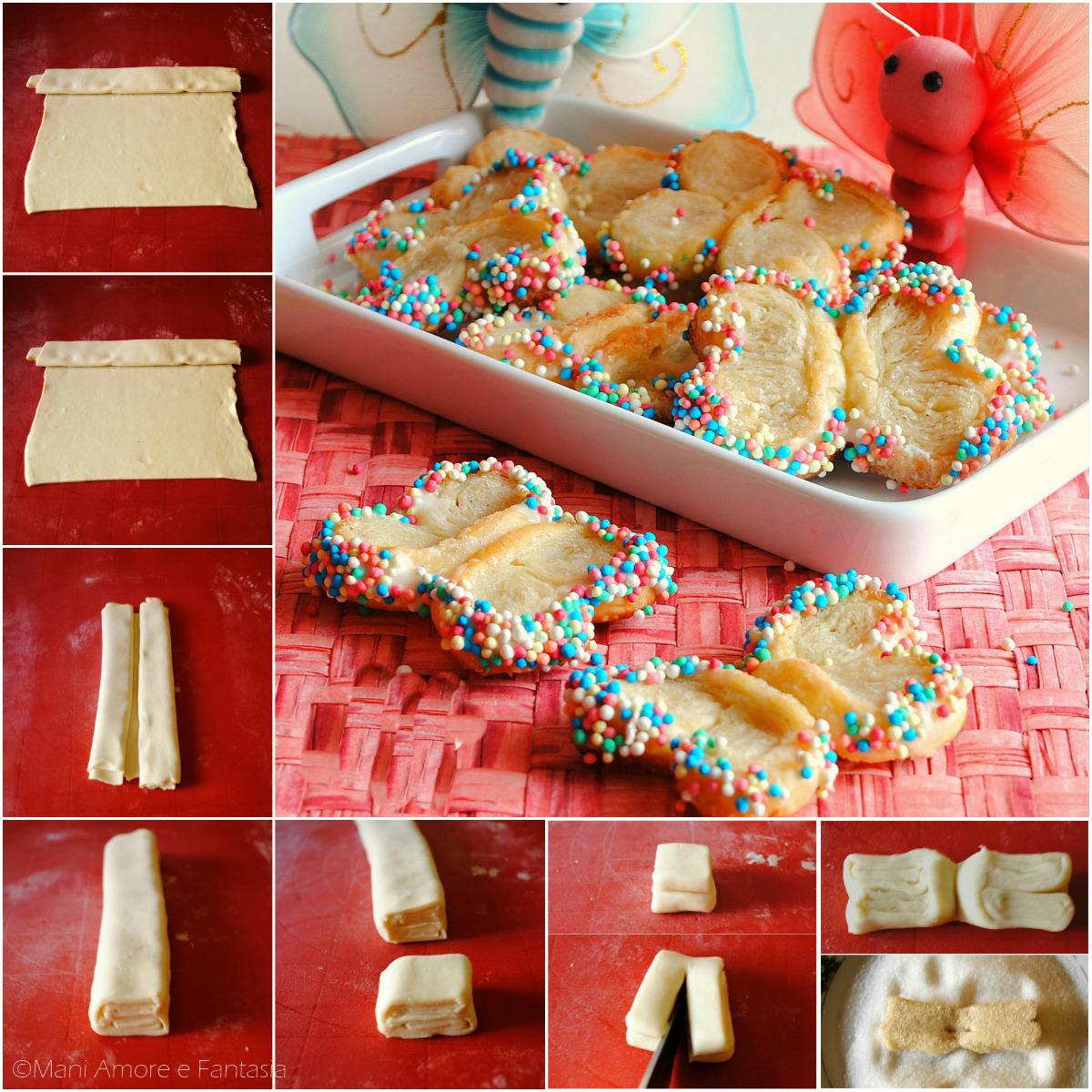 farfalle di pasta sfoglia biscotti