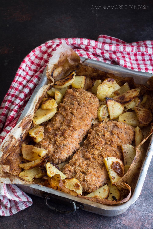 cotolette di salsiccia con patate