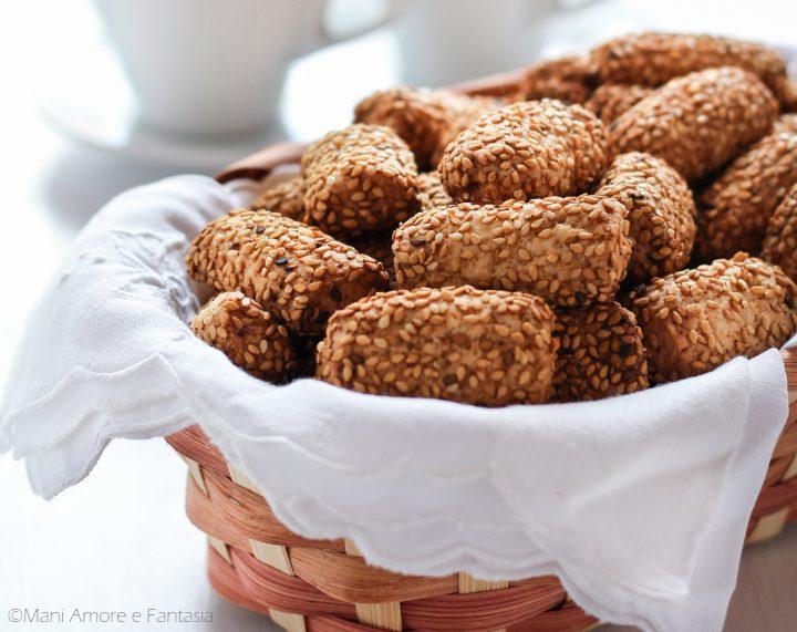 reginelle biscotti col sesamo