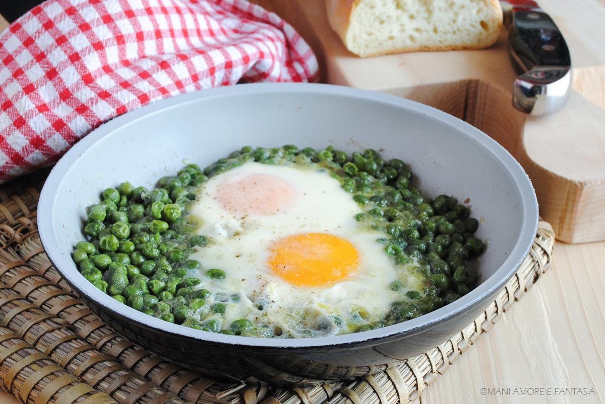 uova con piselli in umido