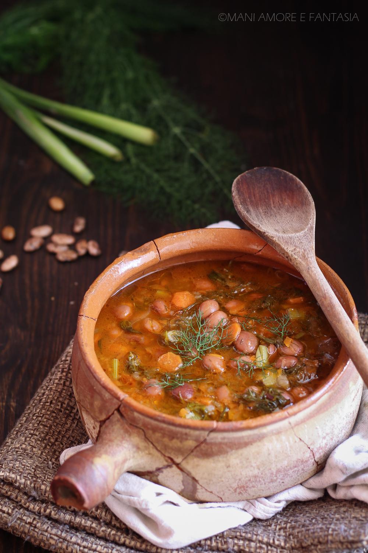zuppa di fagioli e finocchietti