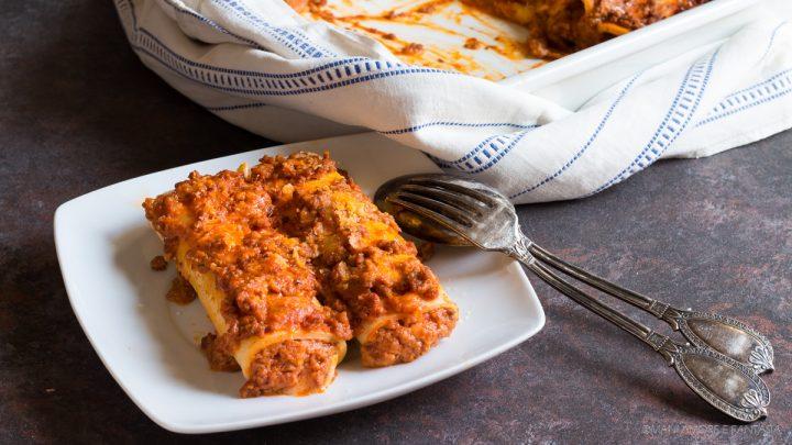 cannelloni al ragù con le crèpes