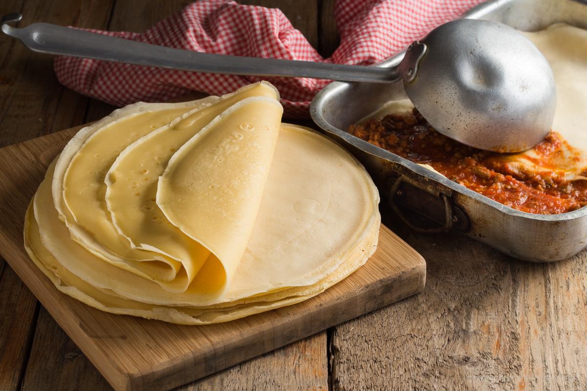 crespelle per lasagne e cannelloni