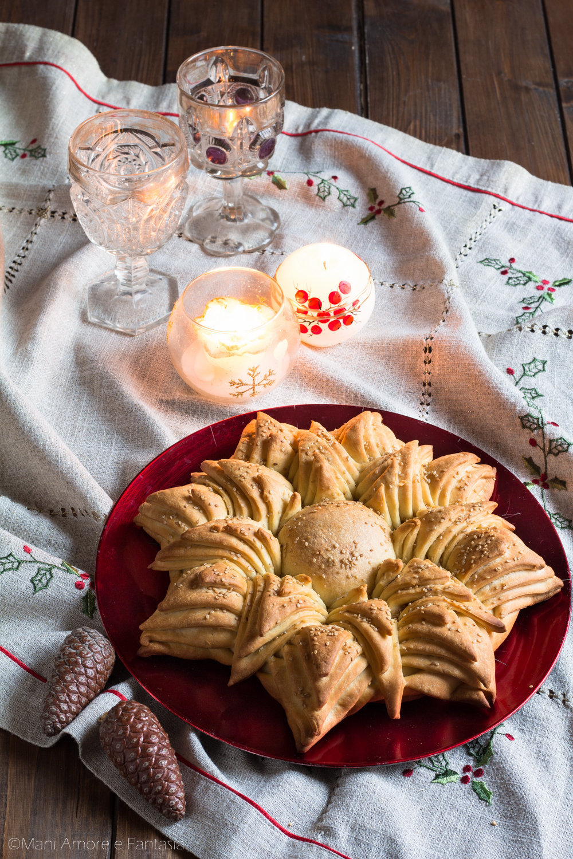 stella di pane natalizia centrotavola