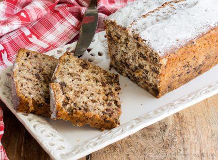 PLUMCAKE ALLE BANANE con noci e cioccolato, il BANANA BREAD!