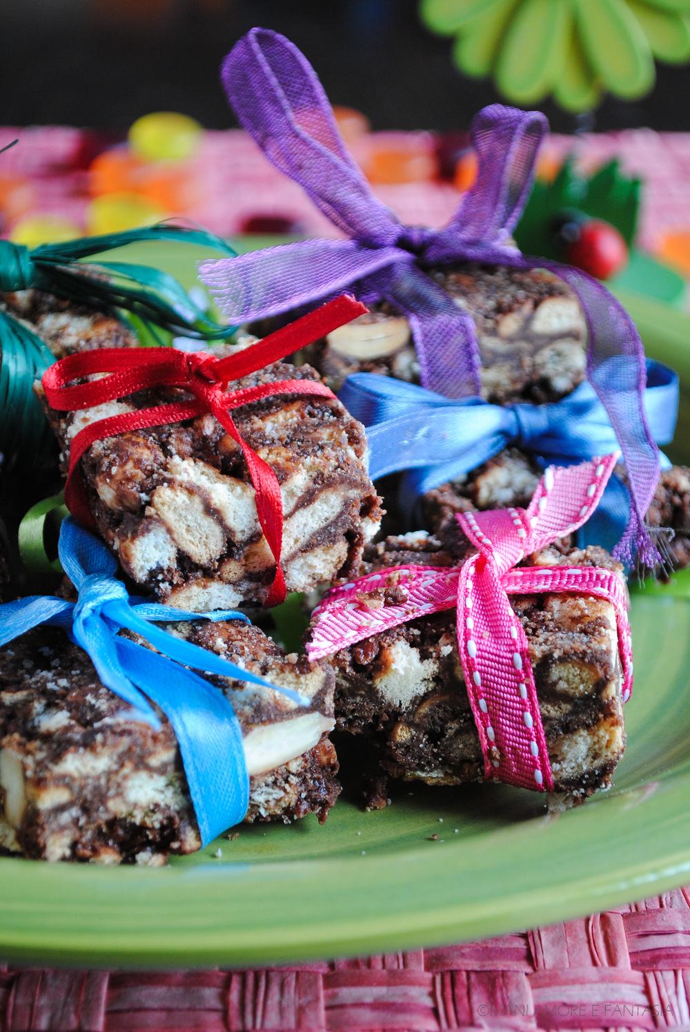 pacchetti di salame di cioccolato