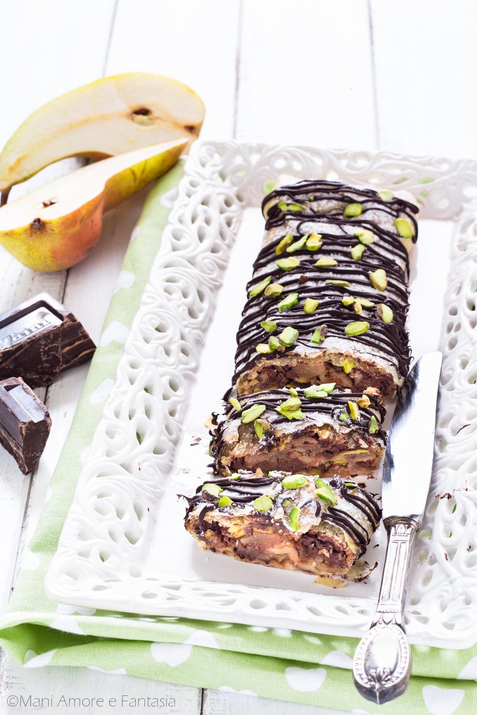 strudel pere e cioccolato