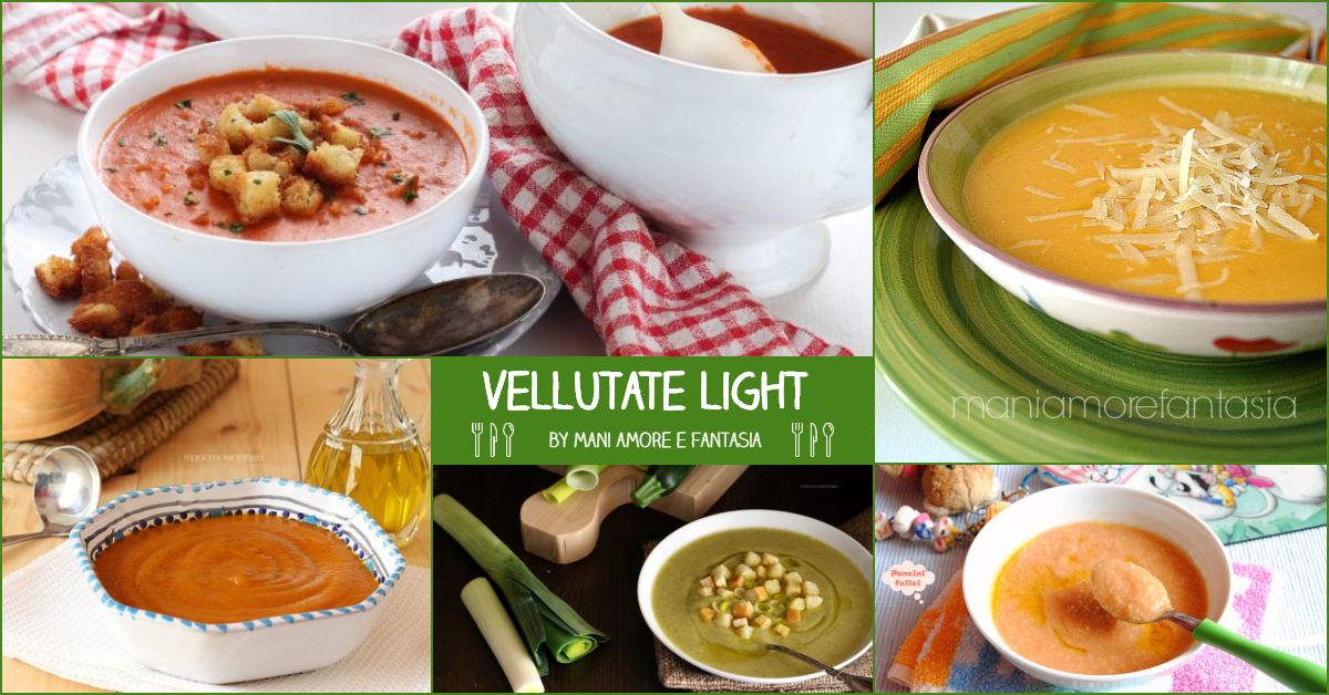 vellutate light ricette per la dieta