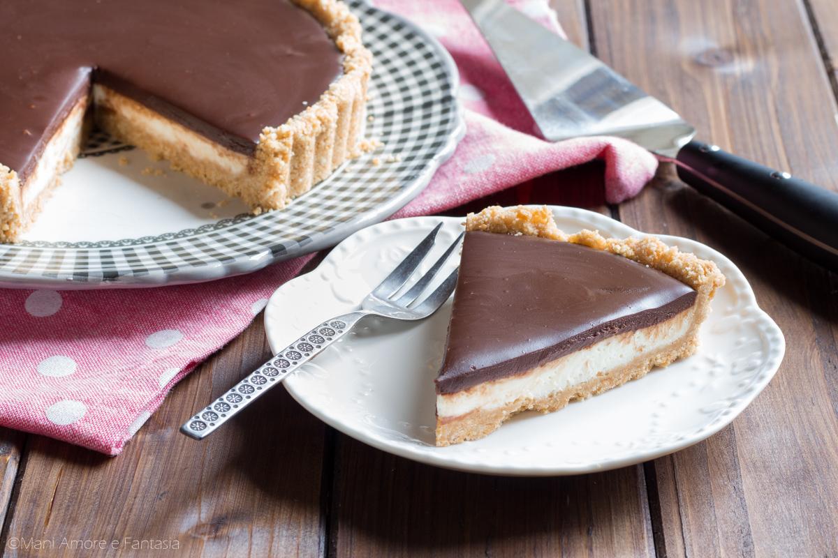 torta fredda con mascarpone e cioccolato