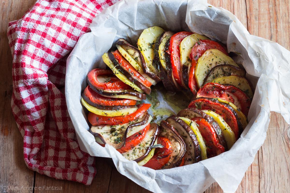 corona di verdure al forno