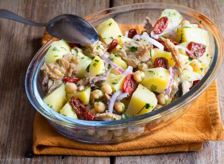 INSALATA DI PATATE, CECI E SGOMBRO, un piatto fresco e saporito!