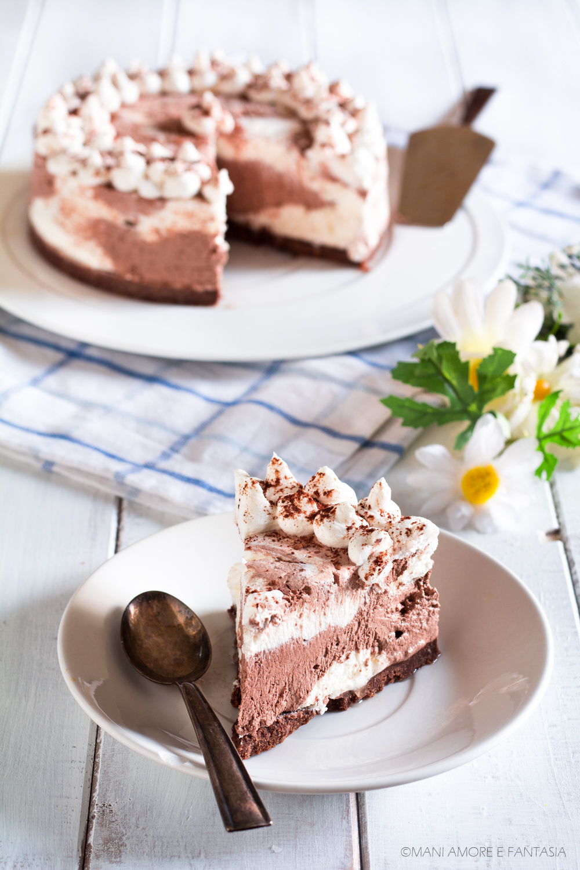 torta yogurt e cacao senza cottura