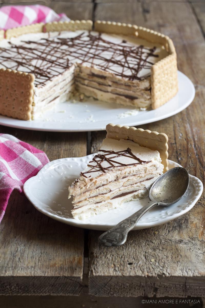 torta di biscotti con mascarpone e nutella