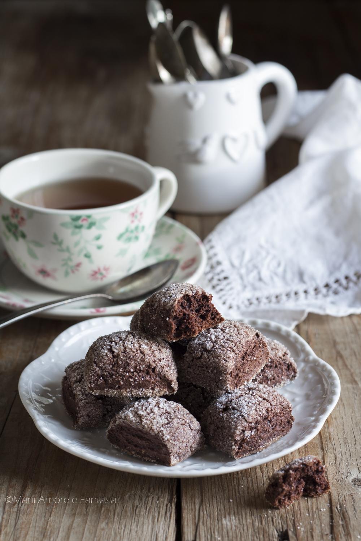 biscotini speziati al cacao morbidi