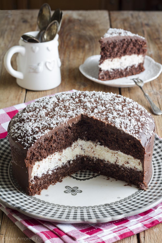 torta pinguino cocco e cioccolato