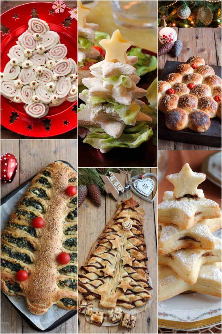 alneri di natale da mangiare, dolci e antipasti