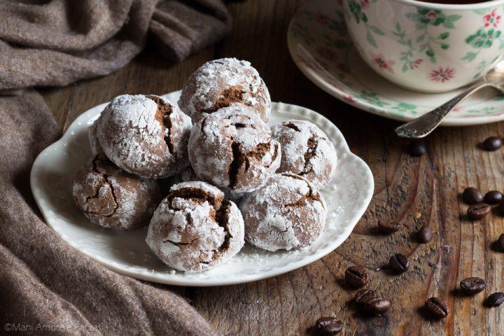 biscotti con caffè e cacao morbidi