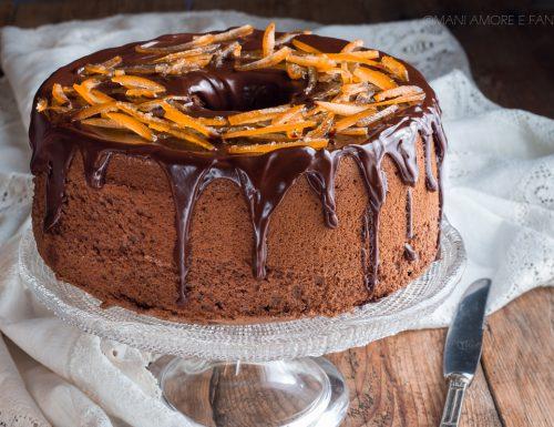 CHIFFON CAKE ARANCIA E CIOCCOLATO sofficissima con una glassa strepitosa!